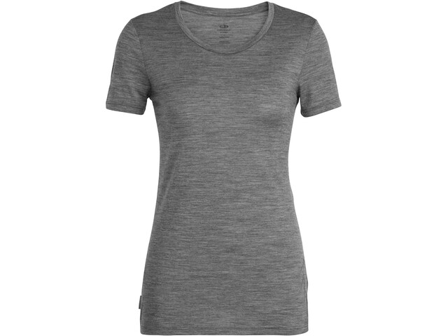 Icebreaker Tech Lite Panax T-shirt Col ras-du-cou Bas Femme, gritstone heather